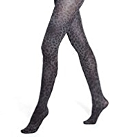 Marl Animal Print Tights