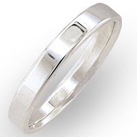 Women's Bridal No Stone Ring, Size: 5-10 Sterling Silver .925
