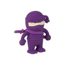 4GB Ninja PURPLE Memory Stick USB 2.0 Flash Drive. Presented In a Free Metal Gift Box. by NUT