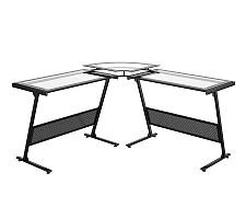 Buy Low Price Comfortable Z-Line Designs Delano Glass Computer L-Desk (B003NX3QKM)