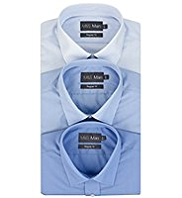 3 Pack 2in Shorter Easy Care Plain Shirts