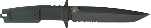 Extrema Ratio Knives 125 Part Serrated Col Moschin Fixed Blade Knife with Black Forprene Handles