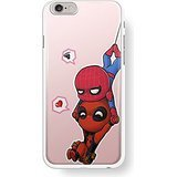 cute little spiderman and deadpool for iPhone 6/6s White case