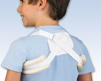 FLA Orthopedics Adjustable Clavicle Support White - Pediatric 2-7 yrs. Fits chests: 20 - 24\