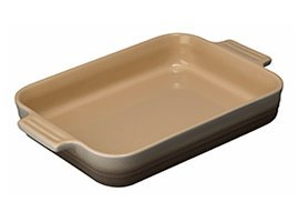 Le Creuset Stoneware Rectangular Dish, 26 cm - Nutmeg