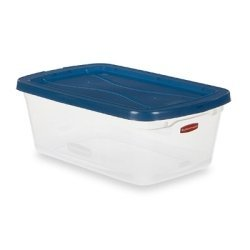 Rubbermaid Inc 6.5Qt Storage Container -3Q3 Containers See Thru Storage Closet