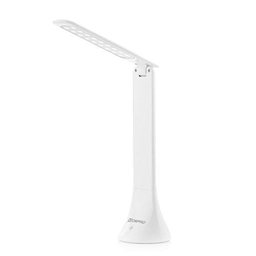Mospro LED デスクライト タッチセンサー 180°調節可能 三段階調光 ストロボ無し 目に優しい光 高効率ヒートシンク付き (ホワイト)