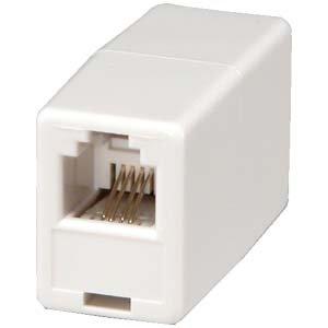 InstallerParts RJ11 Modular Inline Coupler Reverse, White