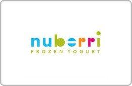 Nuberri Frozen Yogurt Gift Card ($5)