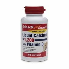 Mason Liquid Calcium 1,200 mg with D3 400 IU 60 softgels genuine 2 boxes tien nutrient super calcium tien s super calcium
