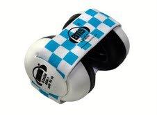 Em's 4 Bubs Baby Earmuffs (Blue & White Headband)