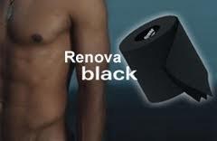 6 BLACK RENOVA TOILET PAPER/ROLLS