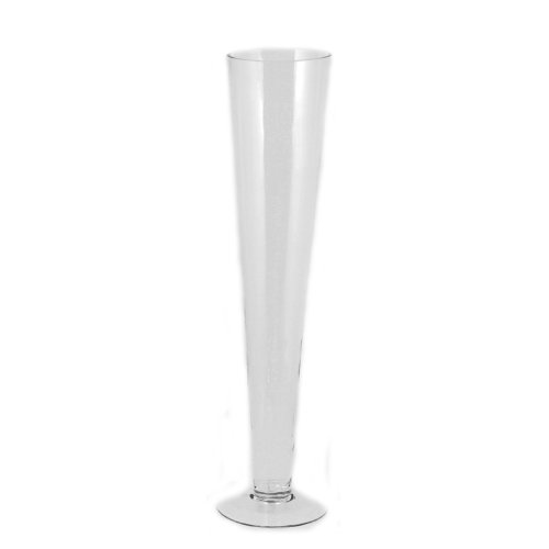 Essential Décor Entrada Collection Glass Vase, 24 by 4.5-Inch, Clear