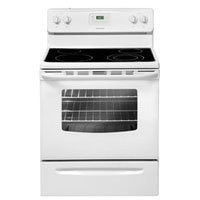 30 In. Smooth Top Freestanding Electric Range - White