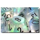 Chessex Dice: Polyhedral 7-Die Borealis Dice Set - Clear w/black