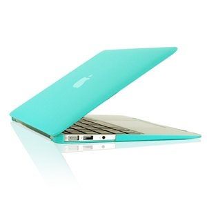 "TopCase Rubberized Hard Case Cover for Macbook Air 11"" (A1370 and A1465) with TopCase Mouse Pad (Hot Blue)"