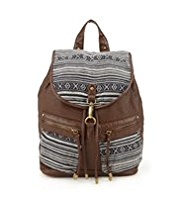Indigo Collection Aztec Design Rucksack