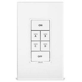 Insteon 2334-232 Keypad Dimmer Switch With 6-Button, White