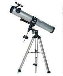 GSI Super Quality Land And Sky 76mm Reflector Equatorial Telescope With Aluminum Tripod - High Power Magnification - Optical Glass Lens, Metal Body, ND Moon Filter - Includes 3 Eyepieces, For Terrestrial And Astronomical Use