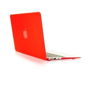 """TopCase® Rubberized Hard Case Cover for Macbook Air 13"""" (A1369 and A1466) with TopCase Mouse Pad (RED)"""