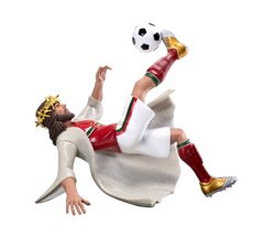 Jesus Soccer Action Figure 'I Am Victory'