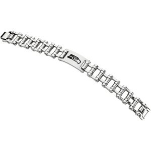 Mens Stainless Steel Seattle Seahawks NFL Football Team Logo Bicycle Link Bracelet 8 Inches
