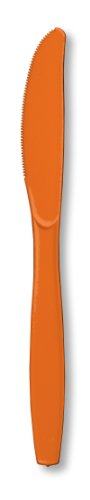 Sunkissed Orange Premium Plastic Knives - Box Of 600