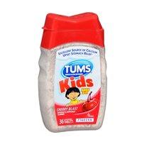 Tums Tums Kids Chewable Cherry Blast, Cherry Blast 36 Tablets (Pack Of 2)