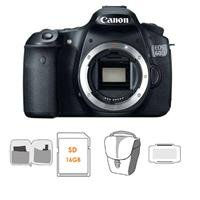 Canon Eos 60D Digital Slr Camera Body, 18 Megapixel,- Bundle With Sandisk 16Gb Ultra Sdhc Card, Lowepro Tlz-20 Holster Case, Pro Cleaning Kit, Card Case