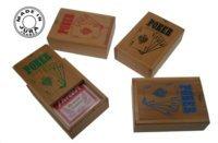 Coffret Jeu de Poker en Bois avec Cartes