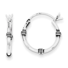 Genuine IceCarats Designer Jewelry Gift Sterling Silver Hoop Earrings