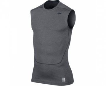 NIKE Pro Combat Core Compression 2.0 Men's Sleeveless Shirt black/cool grey Size:XXL from Nike