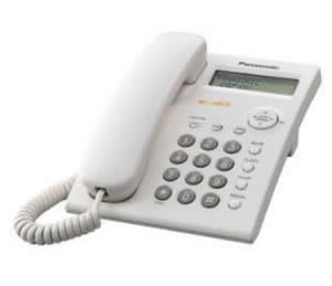 Panasonic KX-TSC11W Corded Phone with Caller ID, White