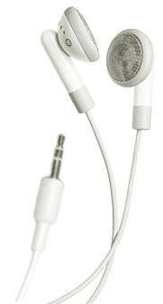 iPod iPhone MP3 Earbud Stereo Headphones - Cloud White