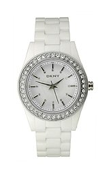DKNY Crystal Bezel White Dial Women's watch #NY8145