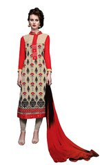 Shaily Retails Women's Beautiful Unstiched Georgette Dress Material