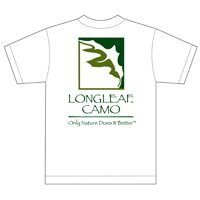 Longleaf Camo Llc 305SSXL S/S Logo T Shirt X-Large White