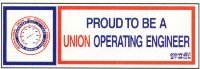 10 Proud to Be Union Operating Engineer Hardhat Stickers T-10