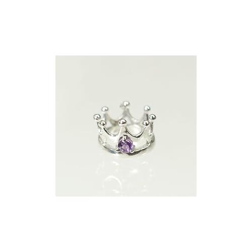 [キュートジュエリー]Cute jewerly 2月の誕生石 K18WG アメジスト ベビーリング プリンスタイプ クマちゃんの宅急便(ピンク)