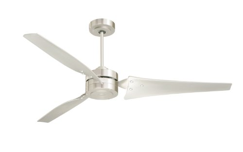 Emerson Cf765Bs Loft Indoor Ceiling Fan, 60-Inch Blade Span, Brushed Steel Finish And Brushed Steel Blades