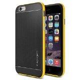 iPhone 6 ケース Spigen [ 二重構造 スリム ] Apple iPhone 4.7 (2014) ネオ・ハイブリッド (国内正規品) (レベントン・イエロー SGP11034)