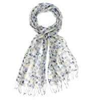 Classic Pure Modal Lightweight Scribble Spotted Scarf