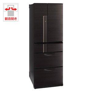 三菱 525L 6ドア冷蔵庫(ロイヤルウッド)MITSUBISHI 置けるスマート大容量 切れちゃう瞬冷凍 MR-JX53X-RW