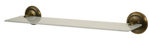 bisk-00401-deco-etagere-en-verre-givre-avec-support-finition-laiton-antique-145-x-505-x-75-cm