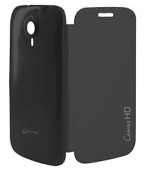 KTS Flip CoverFor Micromax A116/ A116 Q Canvas HD  Black  available at Amazon for Rs.187