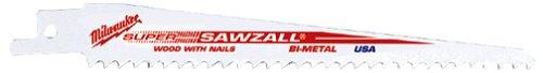 Milwaukee 48-01-6037 12-Inch, 6 Teeth-per-Inch, Super Sawzall Blades, 50-Pack