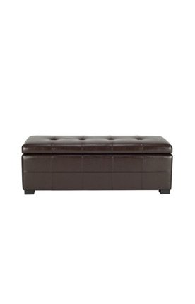 Cheap Safavieh Hudson Collection Noho Tufted Brown Leather Large Storage Bench Shopping