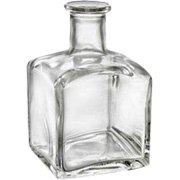 Square Decorative Glass Diffuser Bottle - 1 pc