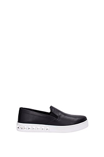 PRADA leather slip on sneakers F/W 2016 sneakers in pelle con strass A/I 2016 (38)