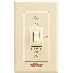 Broan 64w Fan Light Control With Off Delay 4 Amps 120v White Bath Fan Control Table Lamps